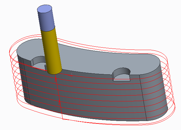 Helical toolpath with trajectory milling